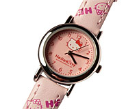 Se mere om Hello Kitty ur med lyserød rem og lilla Hello Kitty motiver i web-butikken