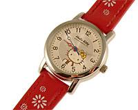 Se mere om Hello Kitty ur med rød rem og hvid farvet urskive i web-butikken