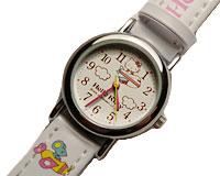 Se mere om Hello Kitty ur med hvid rem  i web-butikken