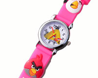 Se mere om Angry Birds børneur med lyserød rem i web-butikken