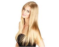 50 cm ægte hår i ekstra blond Vægt 100g (CL088)