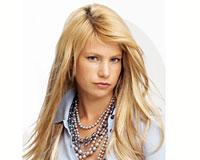 50 cm ægte hår i blond Vægt 100g (CL089)