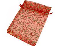 Se mere om Lille rød gennemsigtig snørepose i web-butikken