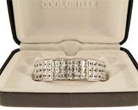 Se mere om Grillz til overmunden med sølvplade form med hvide sten i web-butikken