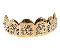 Se mere om Grillz i guld belagt med krystalklare hvide zirkonia sten i web-butikken