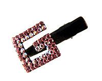 Se mere om Lille hårnæb med G i lyserøde sten i web-butikken