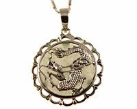 Se mere om Halskæde af sølv med rundt vedhæng med kinesisk drage i web-butikken
