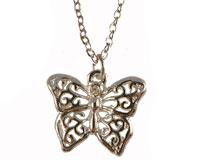 Se mere om ENVY halskæde af sommerfulg i sølv i web-butikken