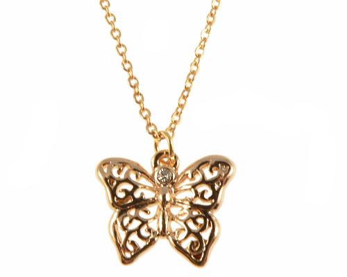 Se mere om envy halskæde af sommerfulg i guld i web-butikken