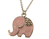 Se mere om Halskæde med lyserøde elefante i web-butikken