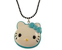 Se mere om Lang halskæde med Hello Kitty figur i lyseblå og hvid i web-butikken
