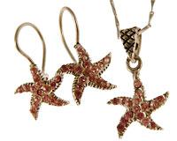 Se mere om Halskæde sæt med øreringe og fingerring af 925 sølv  i web-butikken