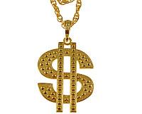Se mere om Lang halskæde i guld med US dollar i web-butikken
