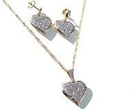 Se mere om Elegant guld halskæde med øreringe af forgyldt i 14 karat guld. i web-butikken