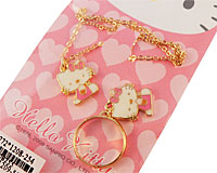 Se mere om Hello Kitty halskædesæt med fingerring vedhæng med Hello Kitty i web-butikken