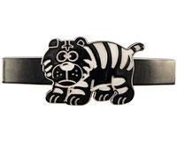 Se mere om Hårspænde med en tiger i sort og hvid farve i web-butikken