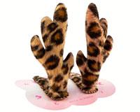 Se mere om Sjove klikspænder med hjortegevir med panterprikker i web-butikken