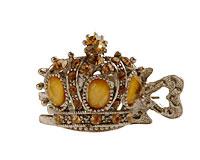 Se mere om Lille hårnæb af kongekrone med gul sten i web-butikken