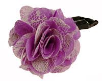 Se mere om Super flot hårspænde med blomst i lilla og hvid i web-butikken