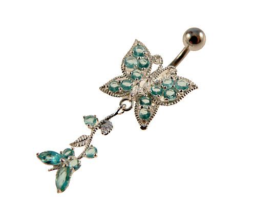 Se mere om navlering af sølv med to sommerfugle i web-butikken