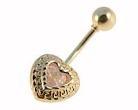 Se mere om Navlepiercing i 14 Karat guld af hjerte i web-butikken