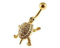 Se mere om Guldbelagt navle piercing  af skildpadde  i web-butikken