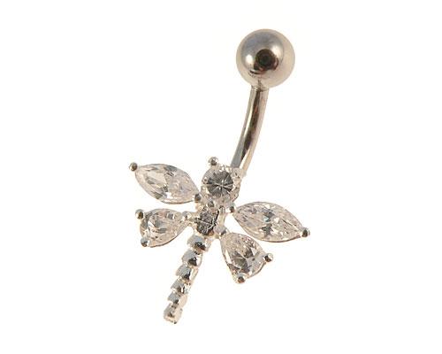 Se mere om navleringe udformet som en bi af sølv i web-butikken