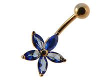 Se mere om Piercing til navlen med blomst i web-butikken