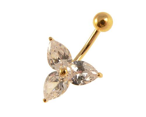 Se mere om guldbelagt navle piercing i web-butikken