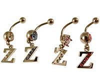 Se mere om Navlering med Z i klare, lyseblå, lilla eller lyserøde sten i web-butikken