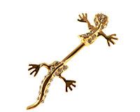 Se mere om Guldbelagt navle piercing med firben  i web-butikken