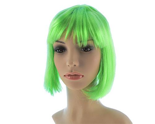 Se mere om neon grøn kort paryk i web-butikken