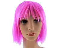 Se mere om Neon pink kort paryk i web-butikken