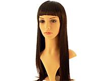 Se mere om Paryk med langt glat glansfuldt sort hår i web-butikken