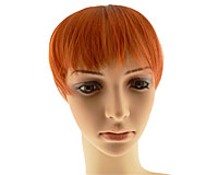 Pandehår i rødlig orange farve med 4 clips (SP024)