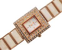 Se mere om Smykkeur med firkantet urkasse i kobber farve i web-butikken