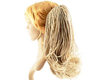 Se mere om Hestehale med små fletninger i blond farve i web-butikken