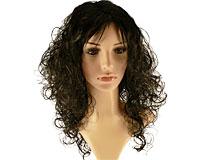 Se mere om Paryk til en festlig aften med sort hår med slangekrøller i web-butikken
