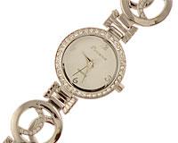 Se mere om Rundt Porsence smykkeur med hvide og elegant designet lænke i web-butikken