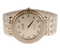 Se mere om LOBOR smykkeur i sølvfarve til damer med hvide similisten i web-butikken