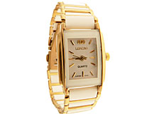 Se mere om LONGBO smykkeur i hvid farve med guldkanter i web-butikken