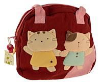 Se mere om Japansk håndtaske fra Le Baobab i lyserød og bordeaux farve i web-butikken