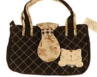 Se mere om Japansk håndtaske fra Kokocat i sort, brun, mørkeblå og lyserød farve  i web-butikken