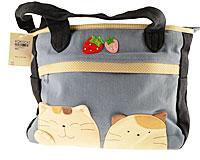 Se mere om Sød håndtaske til piger fra Kokokat i blålige og beige farver i web-butikken