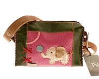 Se mere om PSN hånd og skuldertaske af ægte læder i lyserøde og grøn farve i web-butikken