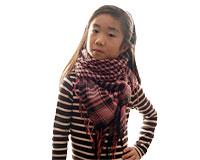 Se mere om Partisantørklæde i lyserød og sort farve i web-butikken