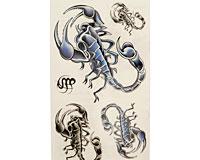 Se mere om Tatoveringer med fire skorpioner til påføring med vand i web-butikken