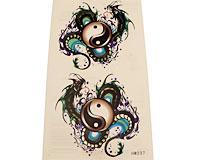 Se mere om Tattoo af stor drage med jin jang tegn i web-butikken