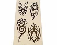 Se mere om Tatoveringer med fire tribal i sort farve i web-butikken