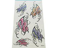 Se mere om Tattoo med fem flotte sommerfugle i web-butikken